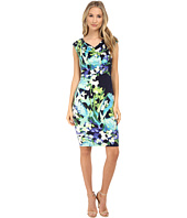 Vince Camuto - Ity Floral Print Sleeveless Drape Neck Dress