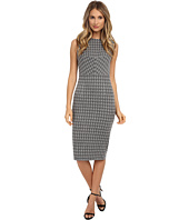 Donna Morgan - Sleeveless Knit Houndstooth Bodycon Dress