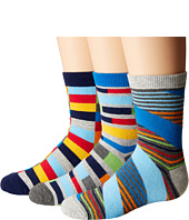 Jefferies Socks - Funky Stripe Crew 3-Pack (Toddler/Little Kid/Big Kid)