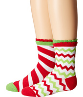 Jefferies Socks - Christmas Socks 2-Pack (Candy Cane Stripe + Chevron) (Infant/Toddler/Little Kid)