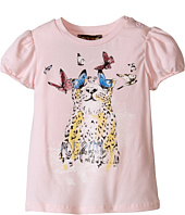Roberto Cavalli Kids - Short Sleeve Leopard Tee w/ Butterflies (Infant)