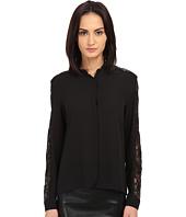 The Kooples - Crepe & Laminated Lace Shirt