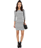 Jack by BB Dakota - Lively Knit Jacquard and Elastic Trim Dress