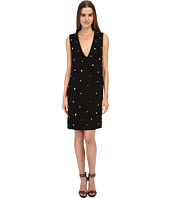 McQ - Studded V-Neck Dress