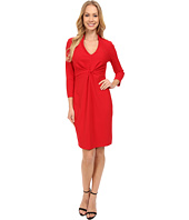 NYDJ - Christa Knotted Stretch Crepe Dress