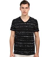 Vince - Short Sleeve Roller Print V-Neck T-Shirt