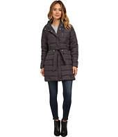 U.S. POLO ASSN. - Long Hooded Puffer Coat with Self Tie Belt