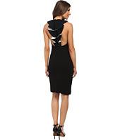 Badgley Mischka - Contrast Ruffle Back Cocktail