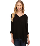 B Collection by Bobeau - Pleat Back Woven Blouse