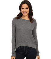 Allen Allen - Long Sleeve Crop Open Crew