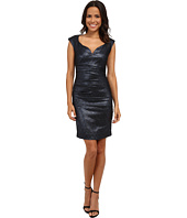 Nicole Miller - Sparkle Jacquard Wire V Dress