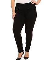 NYDJ Plus Size - Plus Size Zip Ponte Leggings