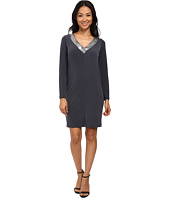 Calvin Klein - Long Sleeve Jersey Dress with Sequin