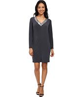 Calvin Klein - Long Sleeve Jersey Dress with Sequin