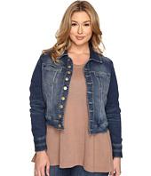 Jag Jeans Plus Size - Plus Size Savannah Jacket in Forever Blue Knit Denim