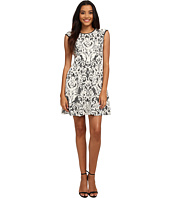 Vince Camuto - Lace Fit & Flare w/ Pleather Trim