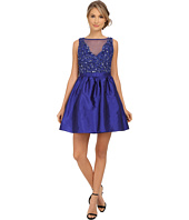 Adrianna Papell - Short Beaded Taffeta Party Dress