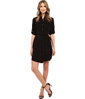 Calvin Klein - Roll Sleeve Button Front Dress