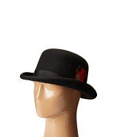 SCALA - Wool Felt Derby Hat with Grosgrain Trim
