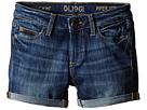 Piper Unstitched Cuffed Jean Shorts in Sea Lion (Big Kids)