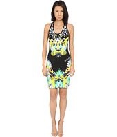 Just Cavalli - Fitted Printed Jersey Tank Dress Leo Giraffe Print