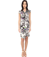 Just Cavalli - Opticoral Print Jersey Cap Sleeve Dress