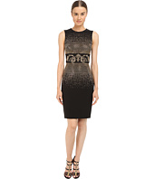 Versace Collection - Black and Gold Embellished Tubino Dress