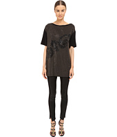 Versace Collection - Black and Gold Embellished Jersey Tunic