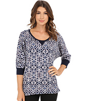 Splendid - Ikat Print Thermal Dolman