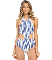 Shoshanna - Pleated Waves Sporty Monokini