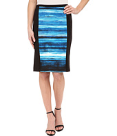 Calvin Klein - Print Blocked Pencil Skirt