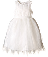 Us Angels - Dot Netting Sleeveless Dress w/ Tiered Hanky Hem Skirt (Toddler)