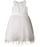 Us Angels - Dot Netting Sleeveless Dress w/ Tiered Hanky Hem Skirt (Little Kids)