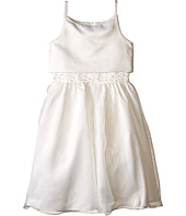 Us Angels - Sleeveless Satin Popver Bodice w/ Beaded Wasit & Full Skirt (Big Kids)