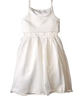 Us Angels - Sleeveless Satin Popver Bodice w/ Beaded Wasit & Full Skirt (Big Kids)