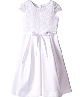 Us Angels - Cap Sleeve Corded Lace Bodice w/ Box Pleat Skirt (Little Kids/Big Kids)