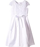 Us Angels - Cap Sleeve Corded Lace Bodice w/ Box Pleat Skirt (Little Kids/Big Kids)