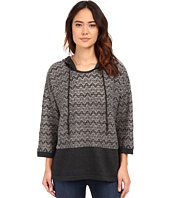 Mod-o-doc - Lace Sweater Knit Kimono Sleeve Hooded Pullover
