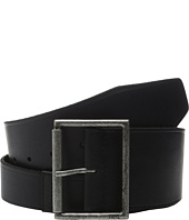 Frye - 65mm Shaped Leather Belt with Heat Crease on Pilgrim Roller Buckle