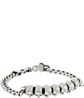King Baby Studio - Curb Link ID Bracelet with Infinity Skulls