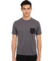 The Kooples - Sport Jersey & Nylon Pocket Tee Shirt