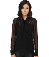 Prabal Gurung - Embroidered Sheet Long Sleeve Top