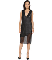 Prabal Gurung - Dusted Pailette Sleeveless Dress w/ Sheer Overlay