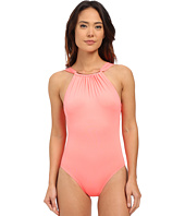 Vince Camuto - Polish High Neck Maillot w/ Removable Soft Cups