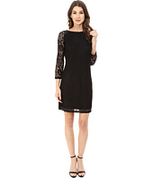 Laundry by Shelli Segal - Lace T-Body 3/4 Sleeve Dress