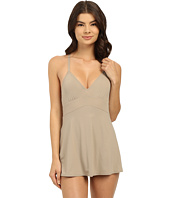 Vince Camuto - Fit and Flare Swimdress w/ Adjustable Straps and Removable Cups