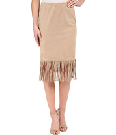 B Collection by Bobeau - Faux Suede Fringe Skirt