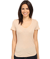 Michael Stars - Slub Short Sleeve Tee with Raw Edges