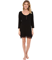 Betsey Johnson - Rib Knit Ruffled Sleepshirt