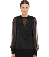 Prabal Gurung - Embroidered Sheer Blouse